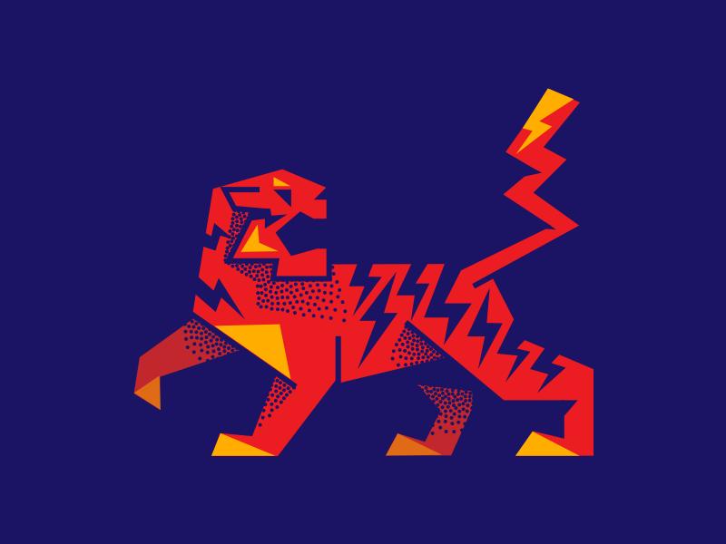 Boltiger simple mark icon symbol mark illustration bolt tiger