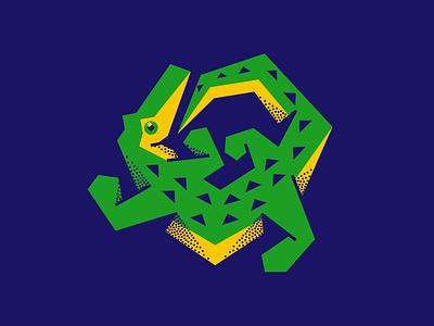 Croco 🐊 flat simple animal illustration crocodile