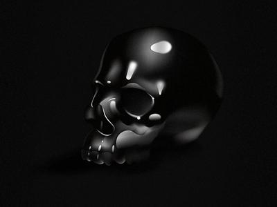 All black 💀 gradient mesh gradients black illustration skull