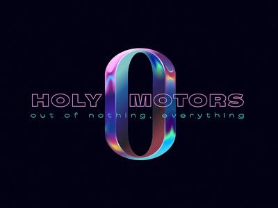 Zero visual illustration identity branding holy motors identity logo