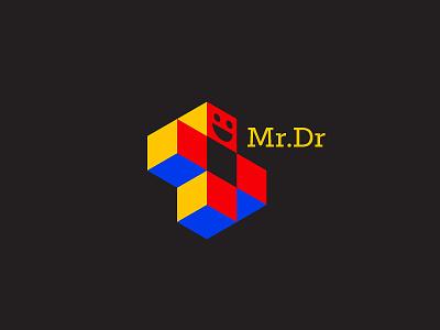 Mr.Dr funny illustration funny dued symbol mark logo docotr cross