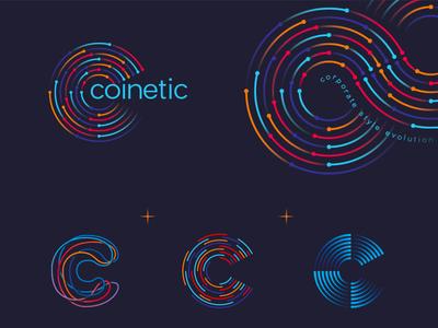 Coinetic identity branding identity logo mark symbol logo