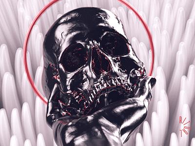 B E skull redshift3d freak design render 3d