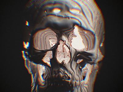 R E T R O skull color redshift3d illustration zbrush monster c4d render 3d