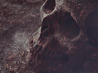 FORSAKEN redshift3d branding skull illustration color octane monster c4d render 3d