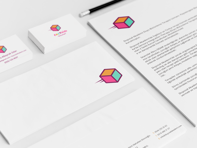 Fit & Smart Kids  card business brand mockup logo identity corporate