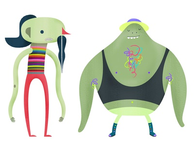 Characters for animated project illustration character design motion graphics