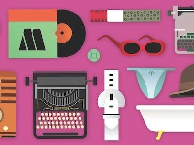 Illustrations for upcoming french book illustration colorblok glasses cigarette belt motown underwood