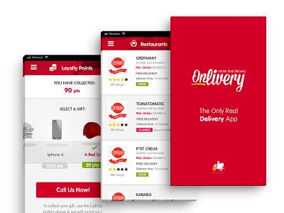 App Design  delivery red neat clean ui ux design app