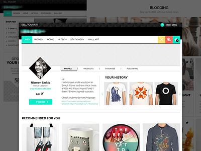 E-commerce User Profile design website interface ux ui profile user ecommerce
