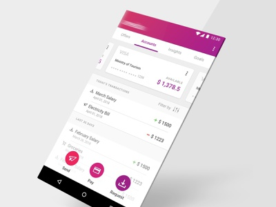 Fintech Mobile App app statistics dashboard uiuxdesign iconography cards product design uiux product scalable bank app bank banking pay mobile app mobile fintech expenses transaction account