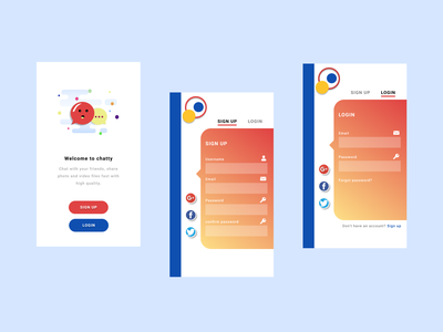 Messaging App app design