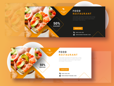 Web Banner - Food Restaurant web design
