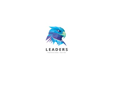 Leader Eagle Logo skills emperor vision patriotic freedom brave leadership triangulation polygon eagle head phoenix eagle
