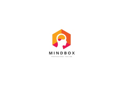 Mind Box Human Logo expertize human creativity creative brainstorm cubical cube box hexagon think mind smart