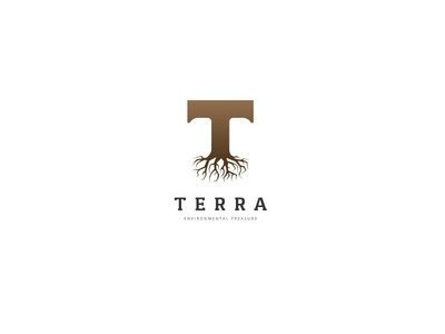 Terra Logo t logo outdoor strength organic nature wood forest tree roots earth typography t letter