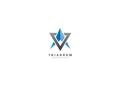 Triangle Arrow Logo expert consulting business gaming entertainment lawyer real estate studio consultant investment ice blue mountain peak way selection technologies triangle arrow abstract
