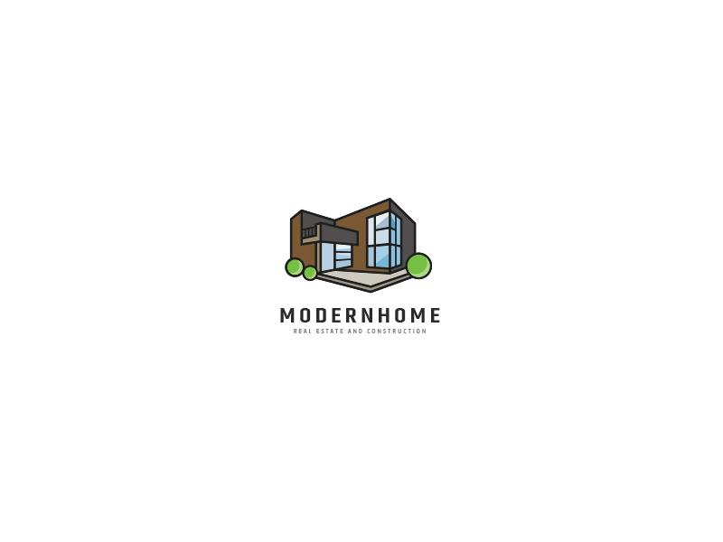 Modern House Logo By Opaq Media Design On Dribbble