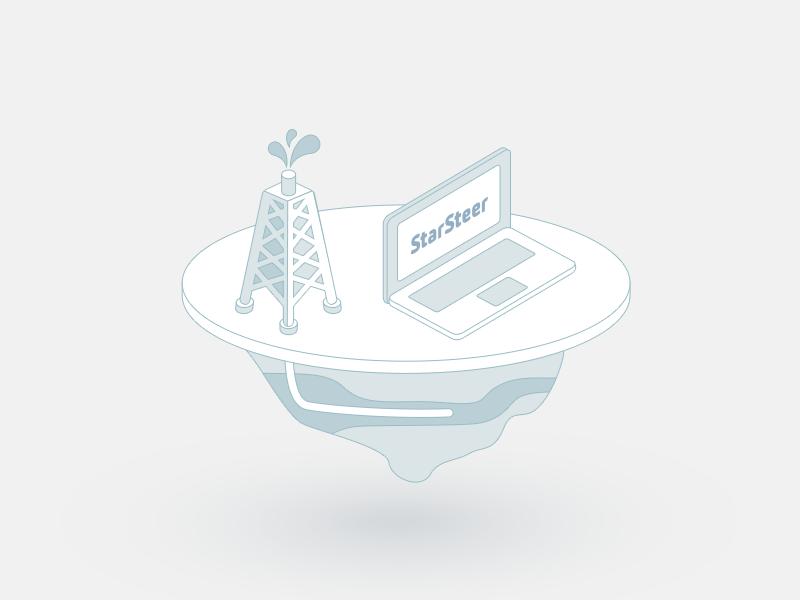 Oil tower  oli tower laptop illustration steering rogii starsteer