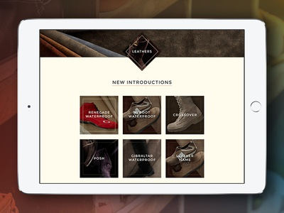 Leather Website | WIP leather fashion ui web wip