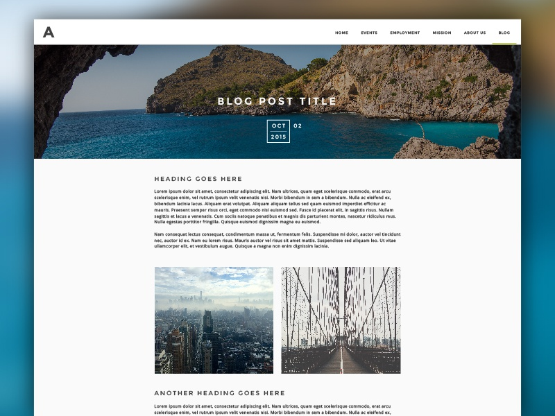 Blog Post Template website simple template web blog