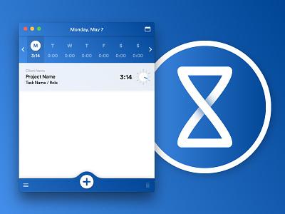 Mavenlink Desktop Timer ui icon utility project management time tracking app timer mavenlink