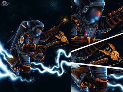 Expectro Astronum enchanter harrypotter magic galaxy space cosmonaut astronaut