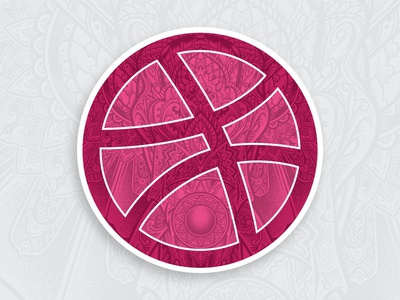 Dribbble Sticker Pack Playoff - Be Strong illustration be strong bestrong ornate elephant stickerpack sticker playoff stickermule sticker mule dribbble