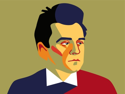 Kazimir Malevich. More than the Black Square. Exhibition project vector illustration