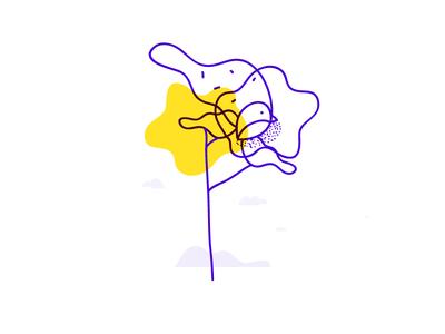 Illustration - Bird in tree