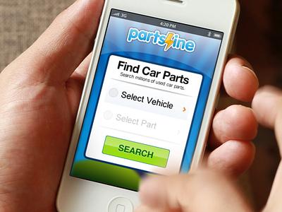 Partsline.com iOS App ios car parts menu table frosted glass blur