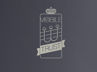 IN MOBILE WE TRUST flat typography