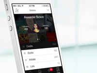 Flat iPhone 5S (iOS7) Reading App Profile Tab