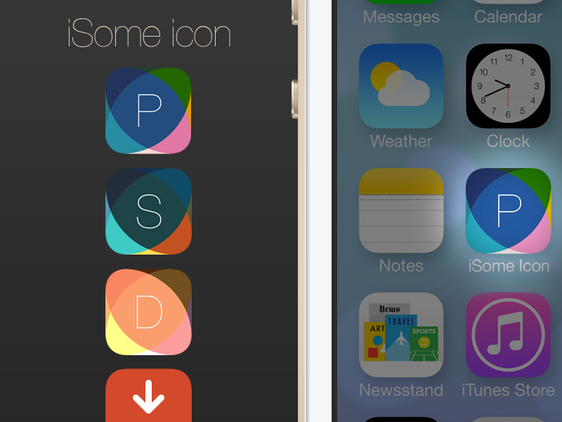 Isome ios 7 app icon template 1024x1024 by alexander for Iphone app logo template