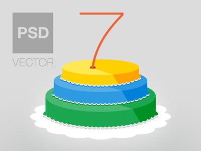 Anniversary Cake (Free Flat Icon)