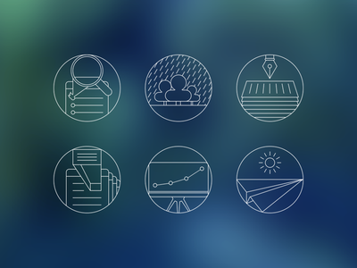 Flat Stroke Icons For SEO Company flat icon set stroke ios7 seo smm ads text mediaplan presentation outline