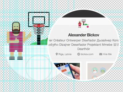 Dribbble UI Friendly Avatar  ui dribbble avatar fun shot field basketball illustration icon play player profile