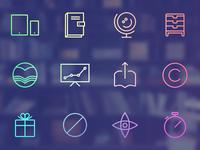 Reading App UI Flat Icon Set
