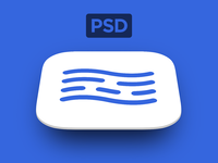 Free App Store Icon PSD Template from @inBudgetApp