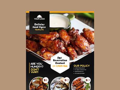 restaurant flyer template with photo 52683 25651 icon logo branding vector typography illustrator flyer design illustration graphic design design art