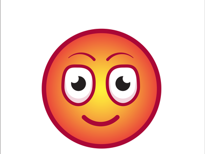 smily face animate in illustrator by using gradient tool vector logo animation icon branding illustrator illustration graphic design design art