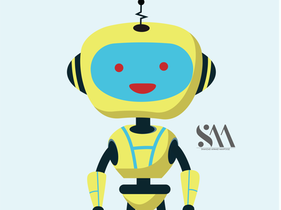 Robot cartoon animate in illustrator ui animation icon vector branding illustrator illustration graphic design design art