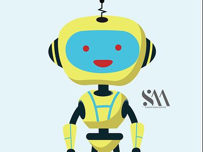 Robot cartoon animate in illustrator ui animation icon vector branding illustrator illustration graphic design design art