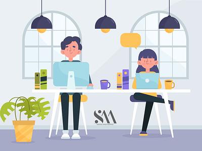 Group work with good things design in illustrator flat ux ui animation vector illustrator illustration graphic design design art