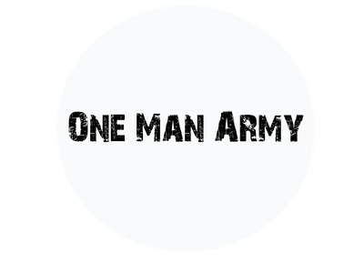 This is the Profile Picture of my YouTube channel,  One_Man_Army logo branding illustrator illustration graphic design design art