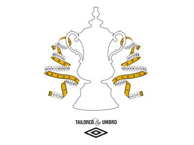 Tailored by Umbro football identity branding illustration soccer
