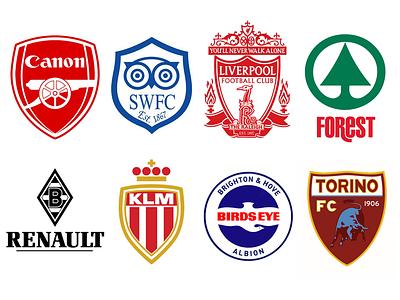 Branded Football branding logo design football identity soccer illustration