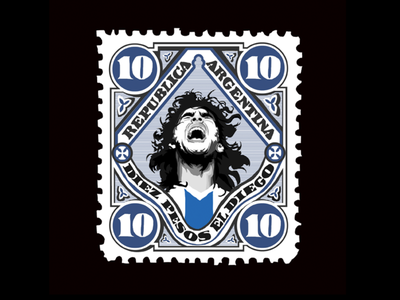 Top Corner Project - Maradona el pibe de oro illustration football soccer maradona