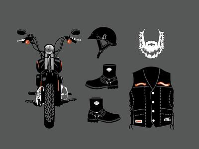 Motorcycle vest boots beard triumph harley biker motorcycle bike