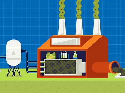 Polution Factory vector